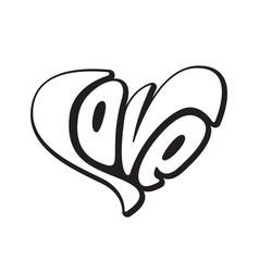 lettering love creative text logo element wedding vector image