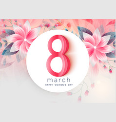 Lovely greeting design of womens day vector
