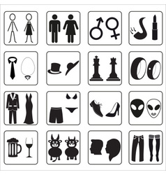 man and woman public toilets icons eps10 vector image