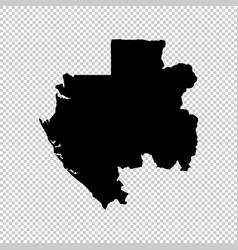 map gabon isolated black on vector image