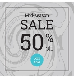 Marble texture Summer sale up to 50 per cent off vector
