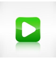 Media play icon Application button vector image