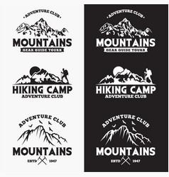 Mountains logo badge 1 vector