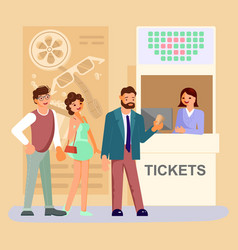 Movie ticket counter theater vector