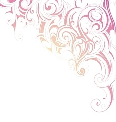 Ornamental design card vector image