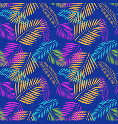 Palm tree leaves seamless pattern tropical vector