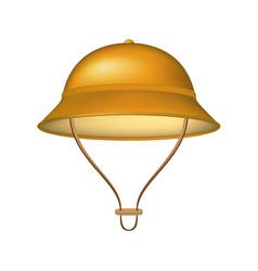 pith helmet in brown design vector image