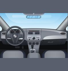 realistic dark vehicle car interior vector image