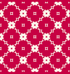 Red and beige seamless pattern with floral shapes vector