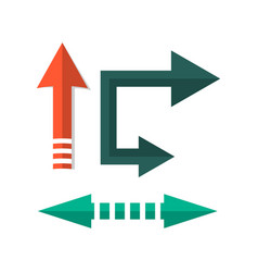 retro arrow direction signs in flat style vector image