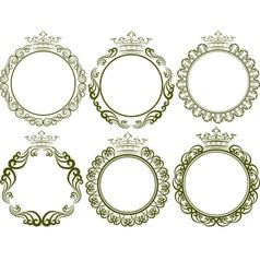 Royal frames vector