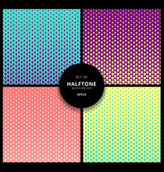 set halftone cover page layouts design vector image