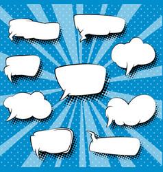 Set of speech bubbles pop art background vector