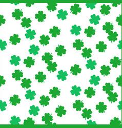 Shamrock green foliage seamless pattern vector
