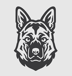 Shepherd Head Logo Mascot Emblem vector image