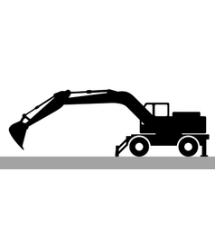 Silhouette the excavate vector image