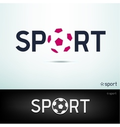 Simple sport text vector
