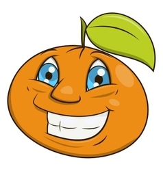 Smiling orange 2 vector