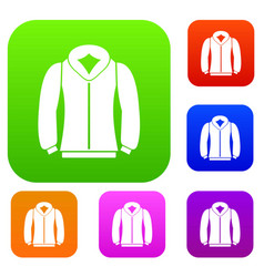 sweatshirt set collection vector image