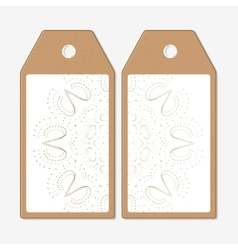 Tags design on both sides cardboard sale labels vector