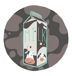 The carton of milk icon vector image