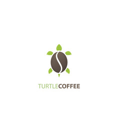 Turtle coffee logo vector