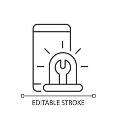 Urgent phone repairs linear icon vector