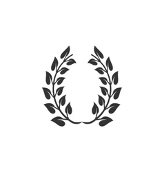 Winner wreath icon isolated on a white background vector image