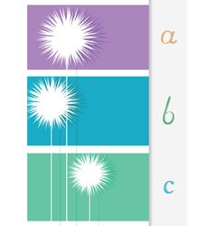 Abstract background for different text vector image vector image