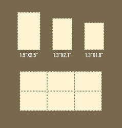blank postage stamps of america size vector image