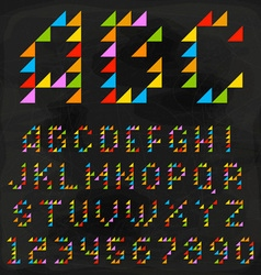 Colorful Triangle Font vector image