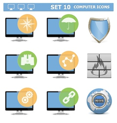 Computer Icons Set 10 vector image
