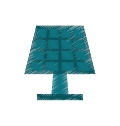 drawing solar panel energy ecological clean vector image