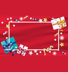 gift boxes and frame background vector image