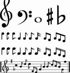 music note selection vector image vector image