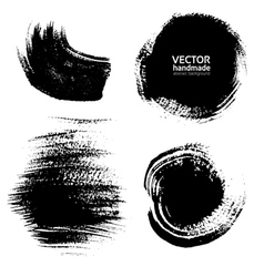 Smears and fingerprints thick black paint vector image vector image