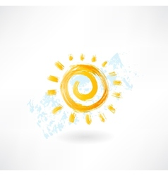 Sun grunge icon vector image