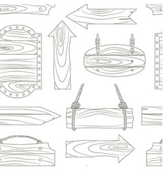 wood banners boards pattern vector image