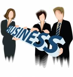 business three vector image vector image