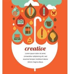 creative umbrella - idea and design concept vector image