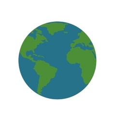 earth world globe map planet geography icon vector image