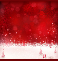 Red Christmas winter background 01 vector image