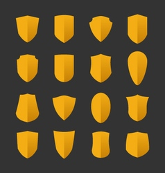 Set of shields in flat design style vector image vector image