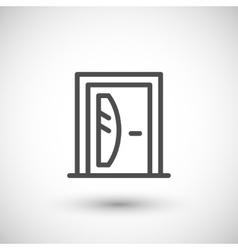 Door line icon vector image vector image