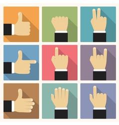 Flat Hands vector image