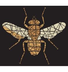 Fly mosaic vector image vector image
