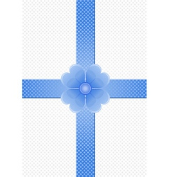 gray background with blue stripes and a flower vector image vector image