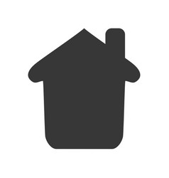 Home pictogram house vector