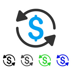 money turnover flat icon vector image vector image