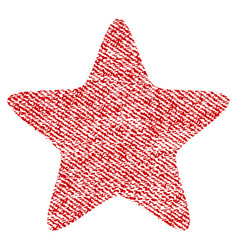 star fabric textured icon vector image